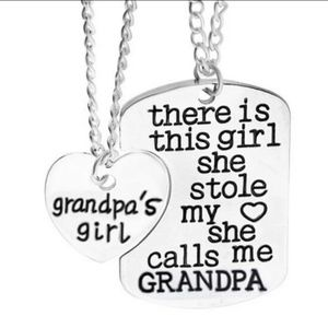 🔥🆕️ 2PC THERE  IS THIS GIRL...GRANDPA NECKLACE